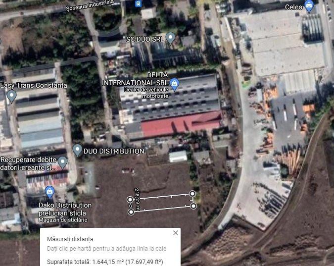 ZONA INDUSTRIALA - Teren intravilan 1645 mp liber de constructii!