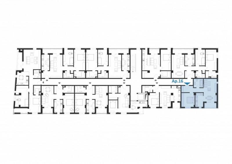 Elvila-2 camere 51,55mp+4,14mp balcon+loc de parcare subteran