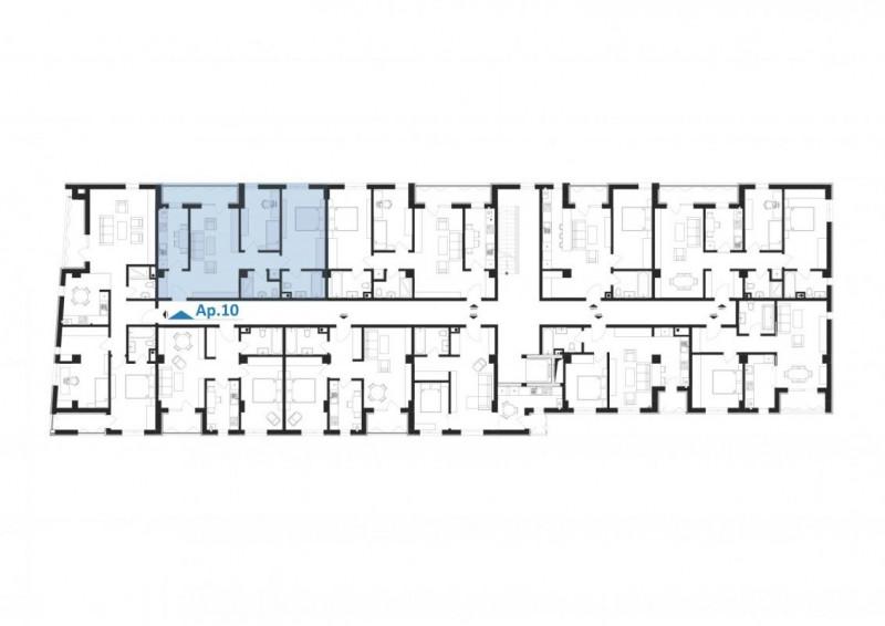 Elvila-3 camere 69,65mp+6,36mp balcon+loc de parcare subteran