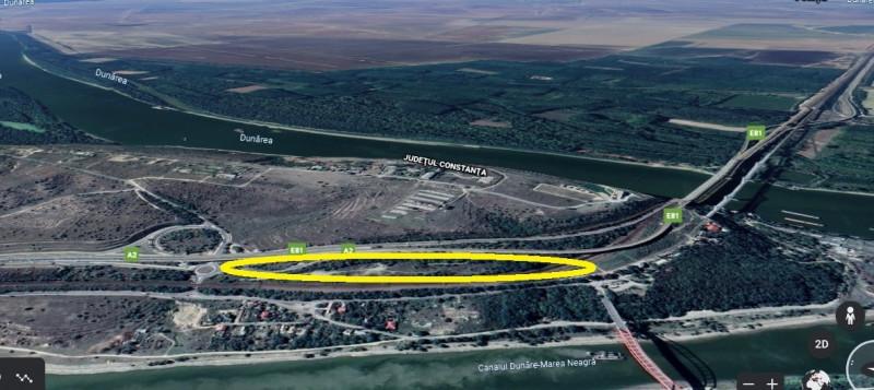 Teren industrial - 3,5 hectare, lângă autostradă - Cernavodă